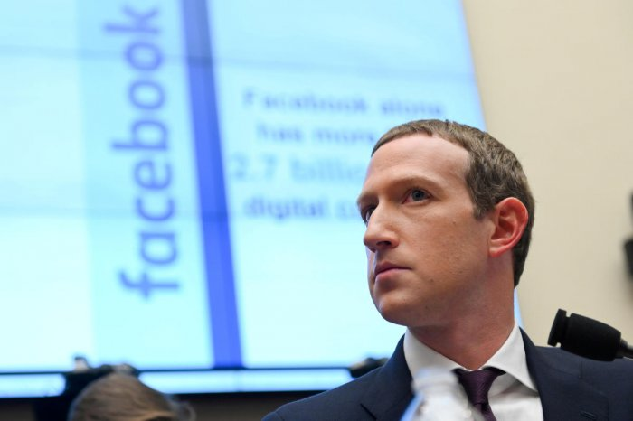 Facebook Chairman and CEO Mark Zuckerberg testifies at a House Financial Services Committee hearing in Washington, U.S., October 23, 2019. (REUTERS Photo)
