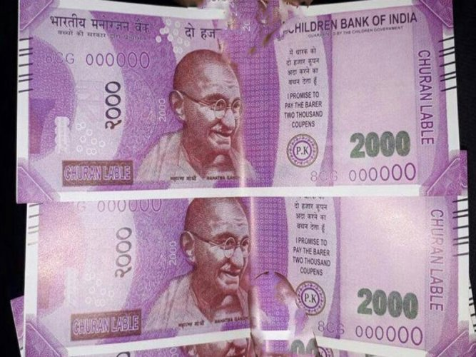 Man gets Rs 2,000 notes with 'Children Bank Of India' written on them frm ATM
