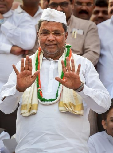 Opposition leader in assembly & former CM Siddaramaiah. (PTI file photo)