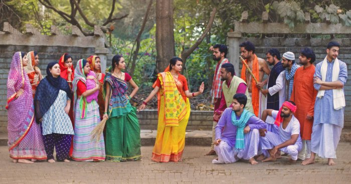 Lysistrata is an ancient Greek comedy that hasbeen adapted into an Indian context.