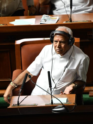 B S Yediyurappa in the Assembly. DH Photo