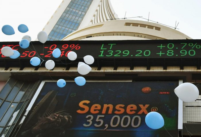 Sensex smashes past 35,000-mark; banks, IT lead charge