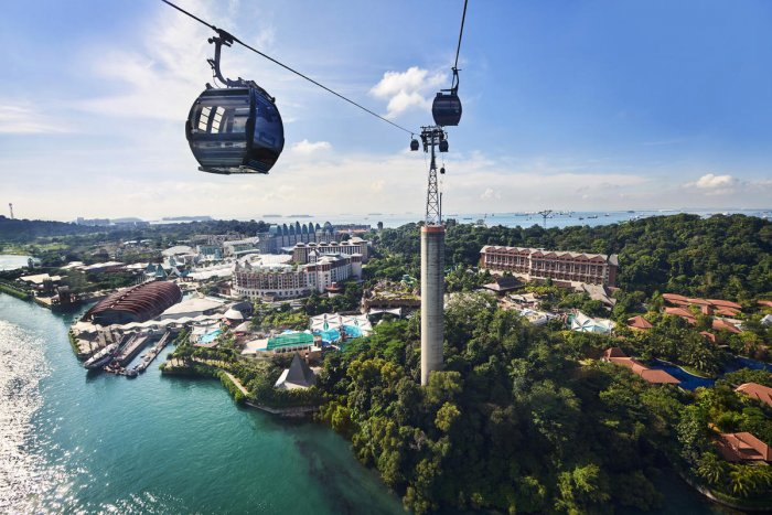 A cable car in Singapore.
