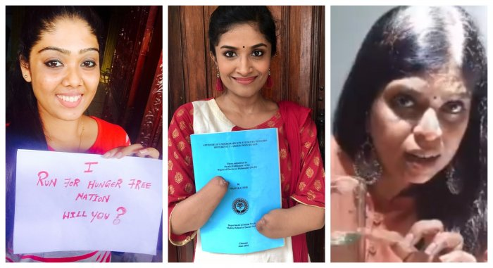 Shweta Mohadoss, Dr Malvika Iyer and Kalpana Ramesh are 3 of 7 women who have been handling the PM's social media accounts. (Credit: Twitter Photos)
