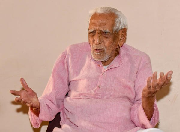 Freedom fighter H S Doreswamy. (DH File Photo)