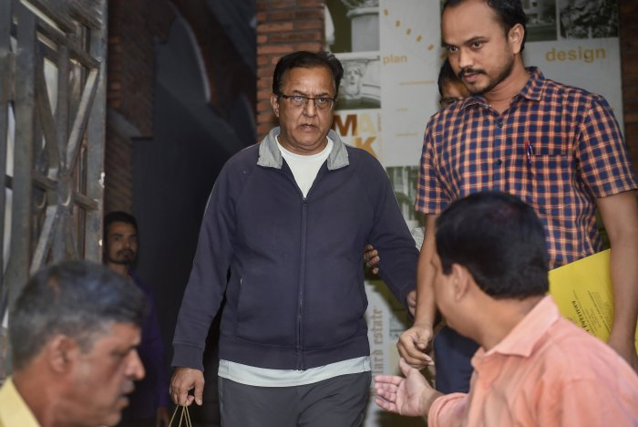 Yes Bank founder Rana Kapoor being taken to court for a hearing in connection with money laundering charges, in Mumbai. (PTI Photo)