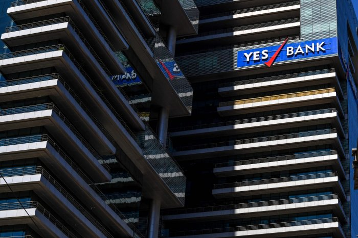The Yes Bank headquarters in Mumbai. (Credit: AFP)