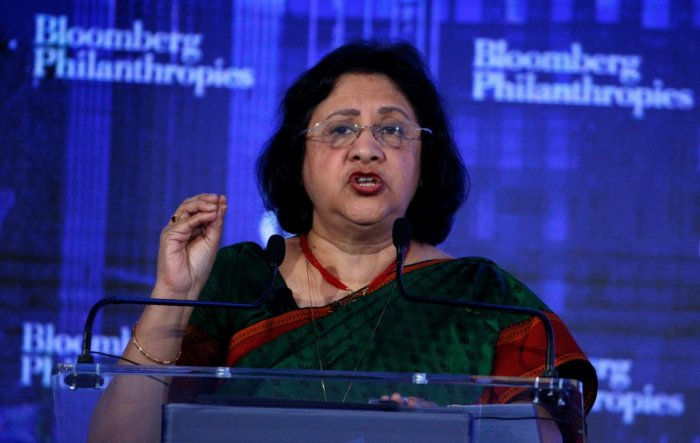 Bhattacharya previously headed the State Bank of India (SBI), the country's largest lender. Reuters file photo