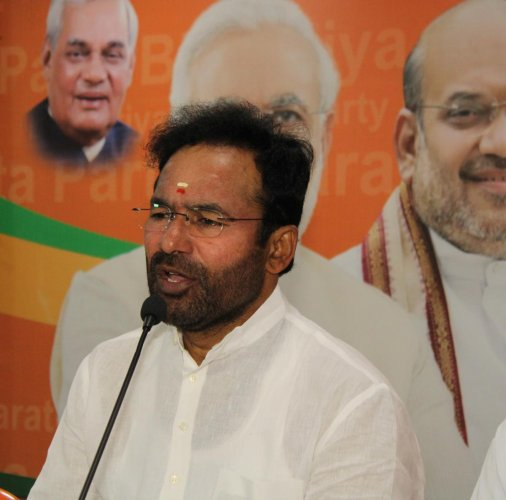 Union Minister of State for Home G Kishan Reddy (DH Photo)