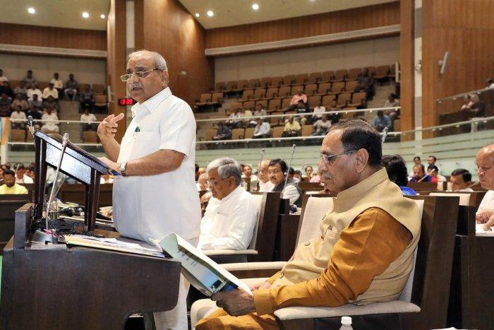 Gujarat Deputy Chief Minister and Finance Minister Nitin Patel (L) (PTI File Photo)