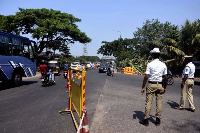 The traffic on NH 66 at Kuloor eased on Wednesday.
