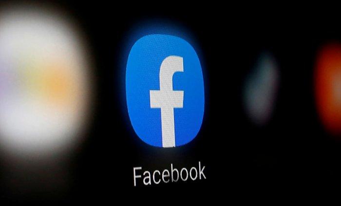Facebook logo. (Credit: Reuters)