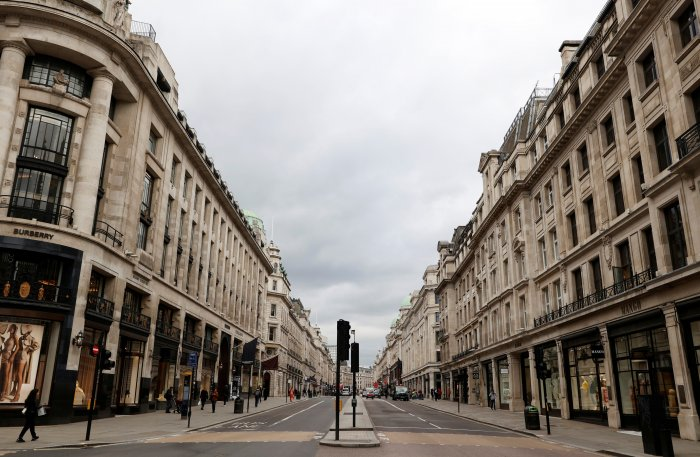 General view on Oxford Circus as the spread of the coronavirus disease (COVID-19) continues, in London. (Credit: Reuters)