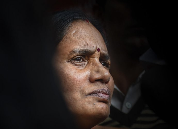 Nirbhaya's mother leaves from Patiala House Court, in New Delhi, Thursday, March 5, 2020. (PTI Photo)