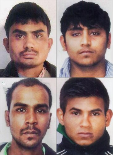 Nirbhaya gang rape case convicts, clockwise from top left, Akshay Thakur, Pawan Gupta,Vinay Sharma and Mukesh Singh. They are scheduled to be hanged on Friday morning, March 20 , 2020. (PTI Photo)