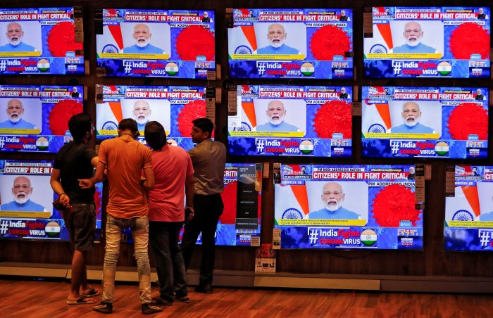 Modi announces the Janta Curfew; Representative photo. (Credit: Reuters)