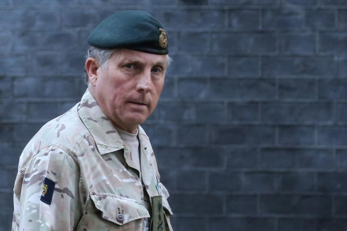 British Army General Sir Nicholas Carter leaves number 10 Downing Street in central London. AFP file photo