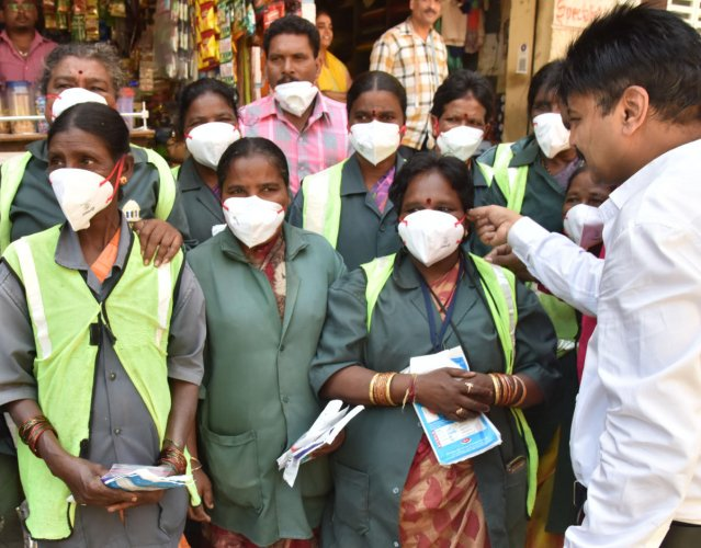 An awareness program for the Pourakarmikas in Bengaluru. DH Photo