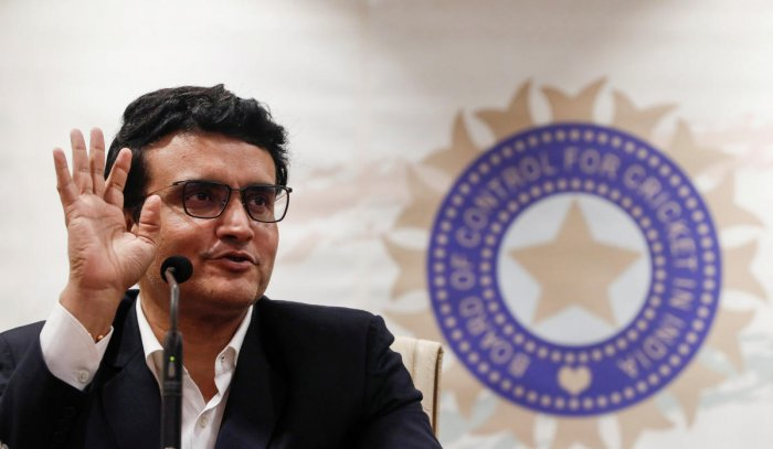 Former Indian cricketer and current BCCI (Board Of Control for Cricket in India) president Sourav Ganguly. Credit: Reuters File Photo