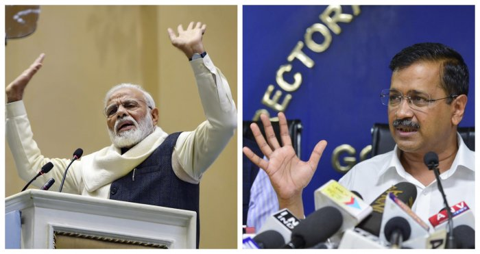 Prime Minister Narendra Modi as well his arch-rival Delhi Chief Minister Arvind Kejriwal on Wednesday invoked Hindi festival 'Navratri'to urge people feed the poor.