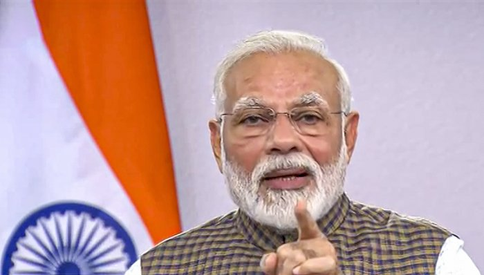 """My fellow citizens, there is absolutely no need to panic,"" Modi tweeted soon after his address to the nation in which he announced the lockdown. (Credit: PTI Photo)"