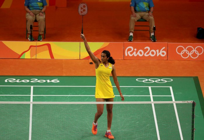 File Photo of P.V. Sindhu (IND), during her 2016 Rio Olympics Badminton Women's Singles Gold Medal Match, Rio de Janeiro. (Reuters Photo)