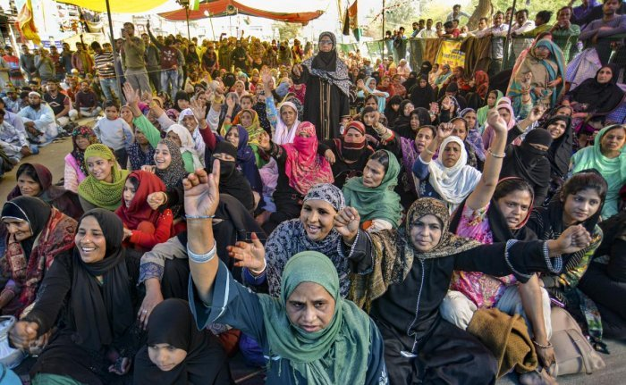 Shaheen bagh protesters (PTI Photo)