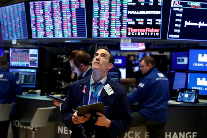 """Adding to upbeat sentiment, Federal Reserve Chair Jerome Powell said the central bank stood ready to act """"aggressively"""" to shore up credit in the market on top of the unprecedented policy easing announced on Monday. (Credit: Reuters Photo)"""