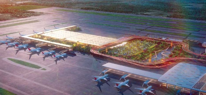 An artist's impression of the second terminal, which will help the airport handle another 25 million passengers per year.