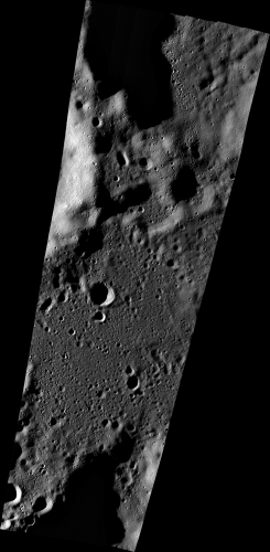 A wide view of a series of Lunar Reconnaisance Orbiter Camera's narrow angle camera images collected on Sept. 17 showing the area of the targeted Vikram landing site. (Photo: NASA/Goddard/Arizona State University)