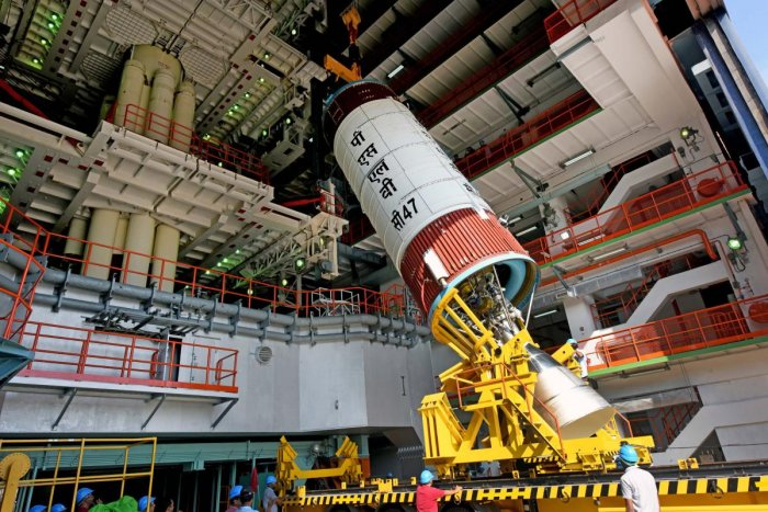 On its 49th mission, PSLV-C47 will put into orbit CARTOSAT-3, a third-generation agile advanced satellite equipped with high-resolution imaging capability. The satellite has an overall mass of 1,625kgs, and will cater to rising demands for large scale urban planning, rural resource and infrastructure development, coastal land use and land cover.