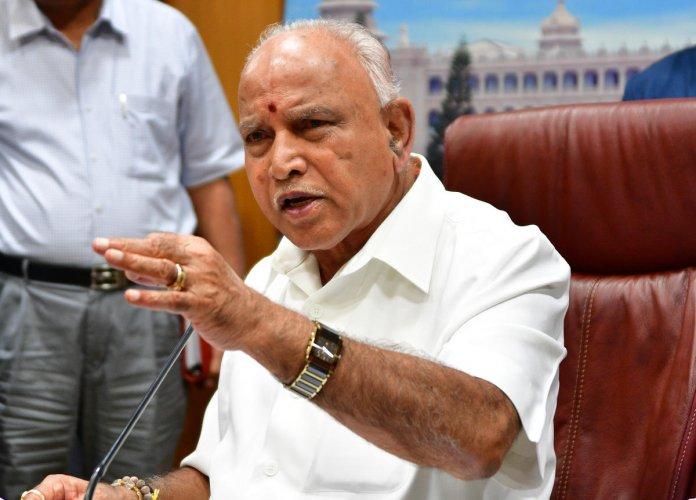 Karnataka Chief Minister BS Yediyurappa. (DH Photo)