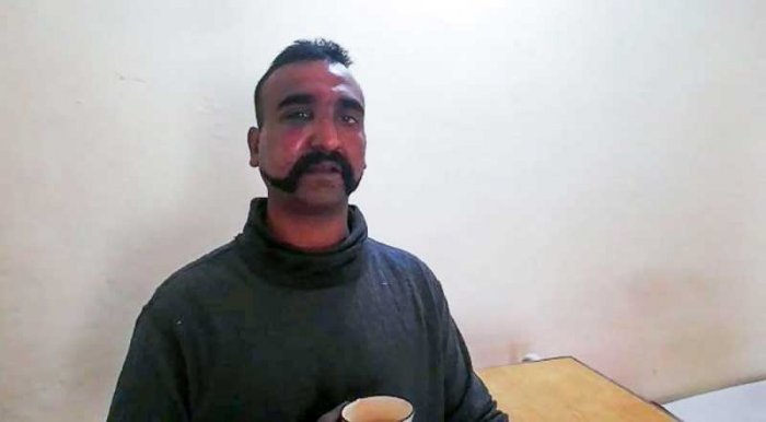 Pakistan held Wing Commander Abhinandan Varthaman on Wednesday after fighter jets of both the nations engaged in an air battle following an unsuccessful attempt to target Indian military installations in retaliatory strikes. (AFP Photo)