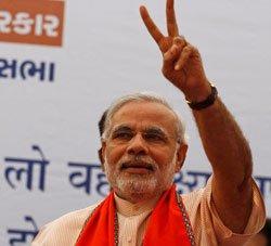 "India Inc hails Narendra Modi ""vision"""