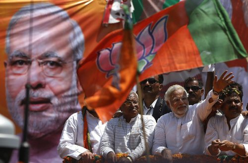 Narendra Modi, on his visit to Varanasi