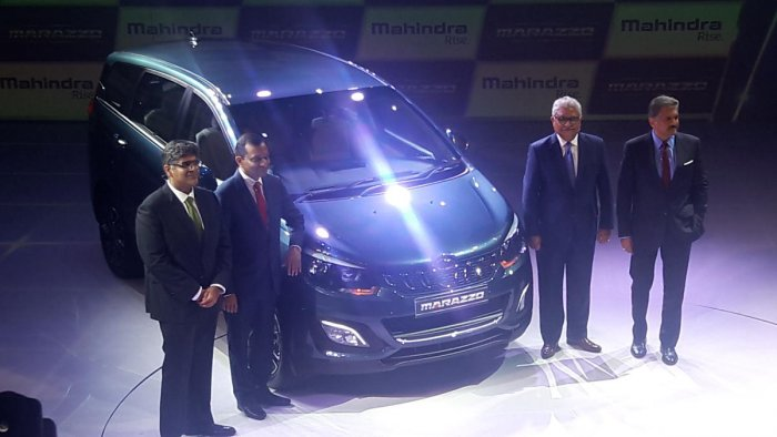 """Addressing the event, Anand Mahindra, executive chairman Mahindra group said, """"It took 4 years for us to come up with the product.'' DH Photo"""