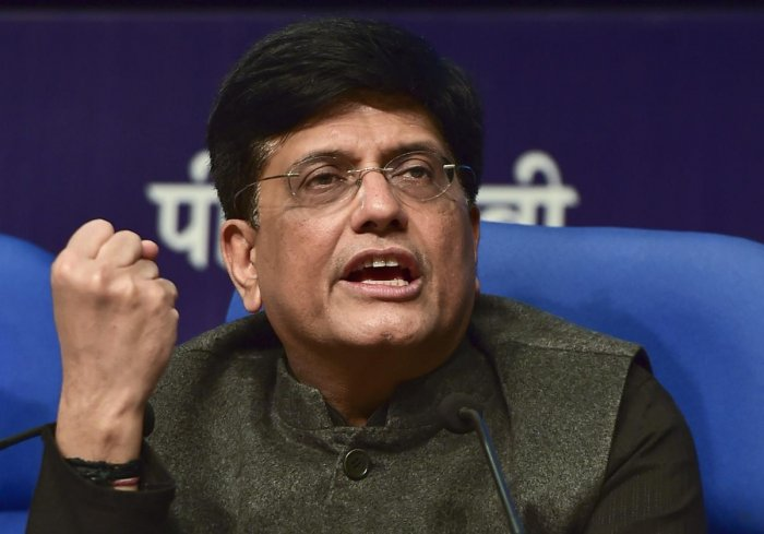 Finance Minister Piyush Goyal addresses a press conference after the presentation of interim Budget session 2019-20 at Lok Sabha, in New Delhi. PTI photo