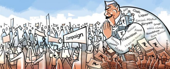 Election campaign illustration