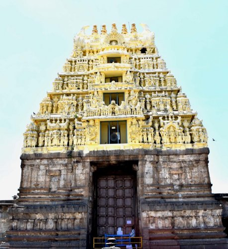 The main entry doors of Chennakeshava temple at Belur, Hassan district, are closed for devotees and visitors for a week from Tuesday.