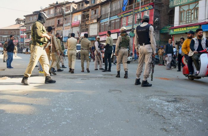 Sources revealed to DH that the decision to modernize J&K police was taken in a recent security review in New Delhi, where National Security Advisor Ajit Doval was also present. (PTI File Photo)