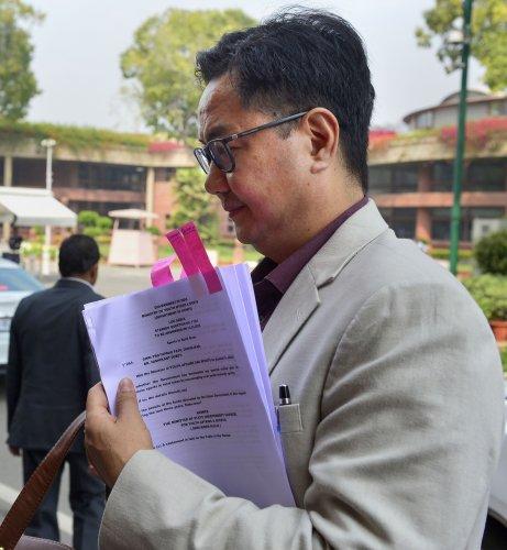 Sports Minister Kiren Rijiju. (PTI Photo)