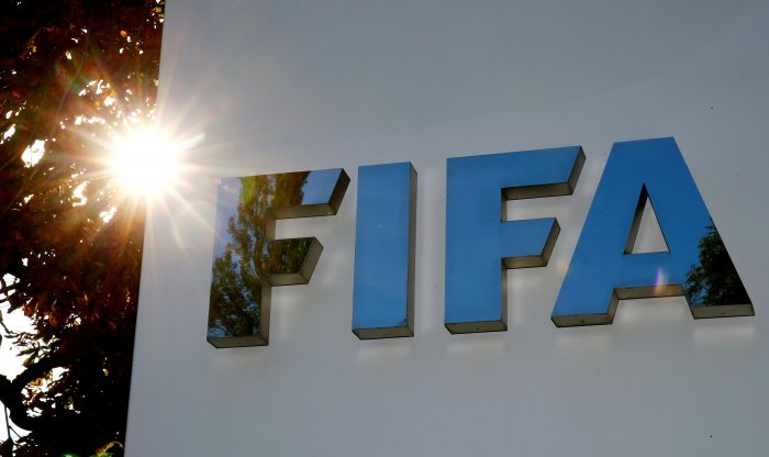 The logo of FIFA is seen in front of its headquarters in Zurich, Switzerland. (Reuters Photo)