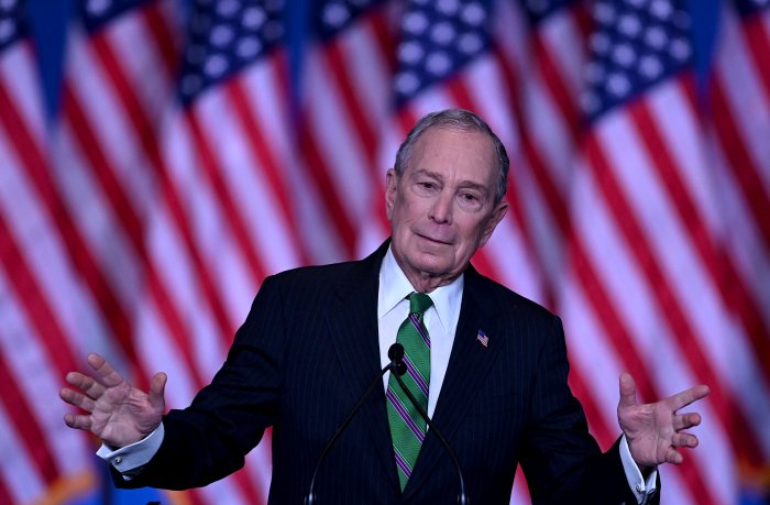 Former New York City mayor Mike Bloomberg. (AFP Photo)