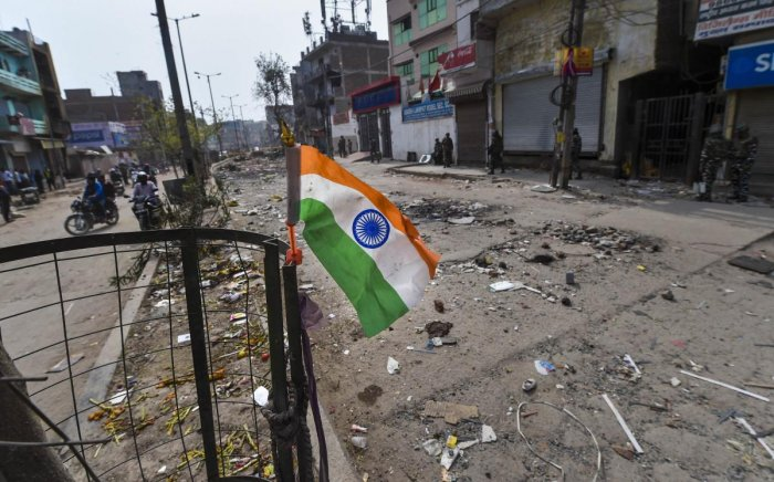 A view of Delhi violence. (PTI photo)