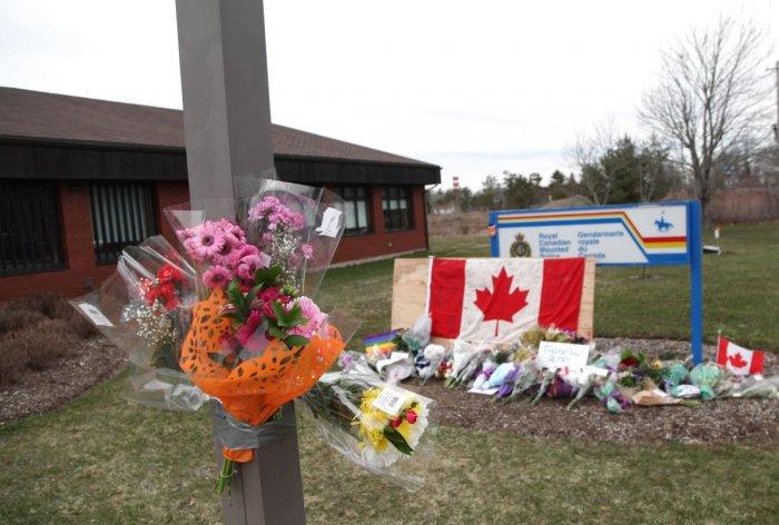 A memorial of the Nova Scotia shooting in Canada. AFP