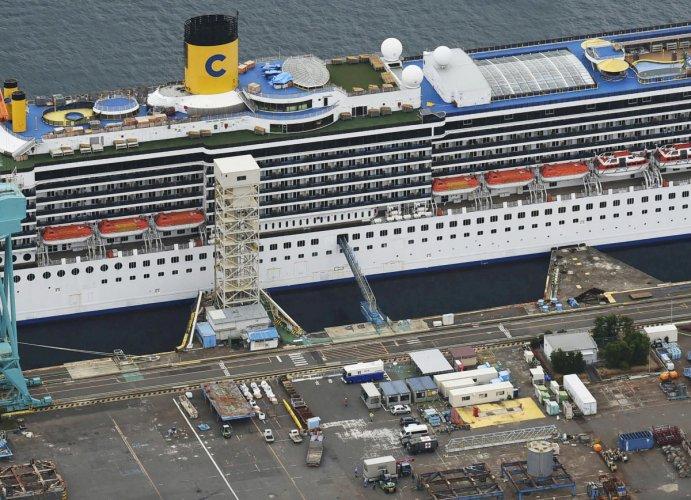 The Costa Atlantica docked at Nagasaki. Reuters/File