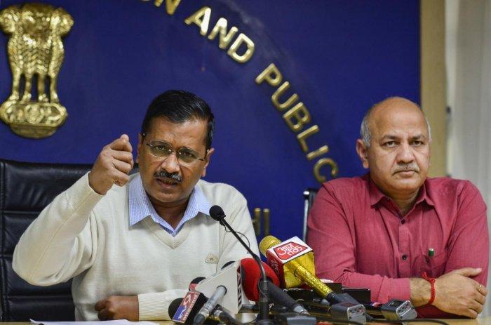 Delhi Chief Minister Arvind Kejriwal and Deputy CM Manish Sisodia (PTI Photo)