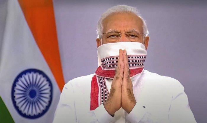 Prime Minister Narendra Modi while addressing the nation. (PTI Photo)