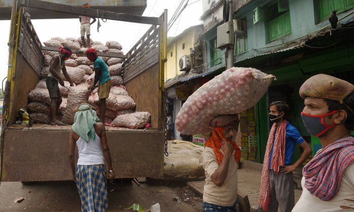 He then hired a truck for Rs 77,500 and set off on April 20 with the onions on a 1,200-km journey to Allahabad. (Credit: PTI Photo)