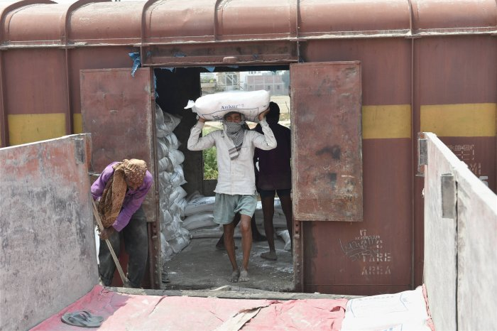Over the last 30 days, more than 10.9 lakhs wagons were loaded with essential and other important goods and transported across the country. (Credit: PTI Photo)